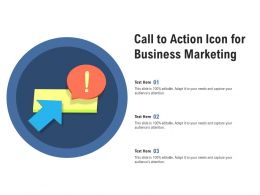 Call To Action Icon For Business Marketing