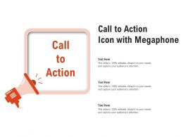 Call To Action Icon With Megaphone