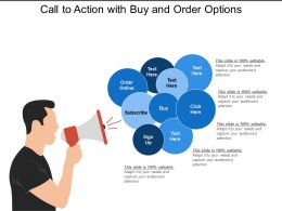 Call To Action With Buy And Order Options