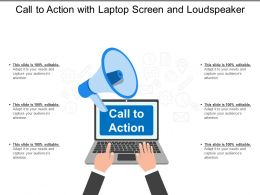 Call To Action With Laptop Screen And Loudspeaker
