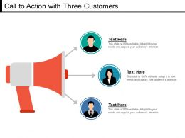 Call To Action With Three Customers