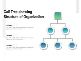 Call Tree Showing Structure Of Organization