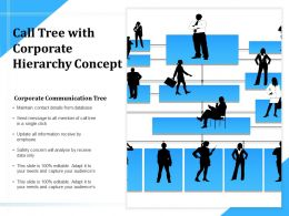 Call Tree With Corporate Hierarchy Concept