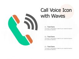 Call Voice Icon With Waves