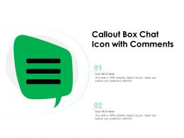 Callout Box Chat Icon With Comments