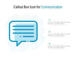 Callout Box Icon For Communication