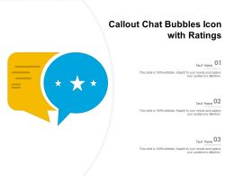 Callout Chat Bubbles Icon With Ratings