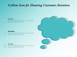 Callout Icon For Drawing Customer Attention