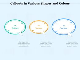 Callouts In Various Shapes And Colour