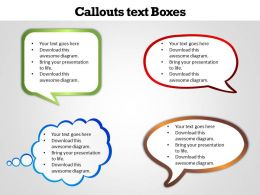 Callouts text Boxes