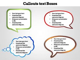 callouts text boxes editable powerpoint templates