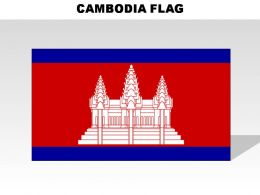 Cambodia Country Powerpoint Flags