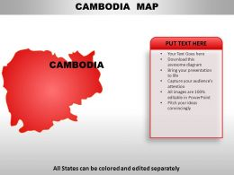 Cambodia Country Powerpoint Maps