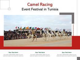 Camel Racing Event Festival In Tunisia