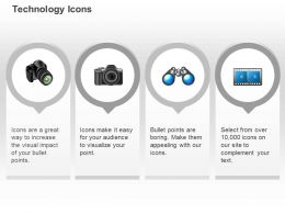 Camera Binocular Object Research Film Ppt Icons Graphics