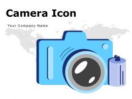 Camera Icon Megaphone Laptop Television Photograph Through Tripod Wireless Vintage