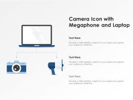 Camera Icon With Megaphone And Laptop
