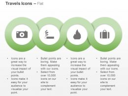 Camera No Smoking Zone Fire Safety Travel Ppt Icons Graphics