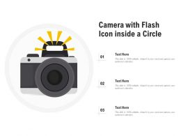 Camera With Flash Icon Inside A Circle