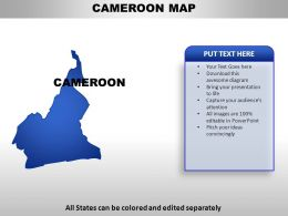 Cameroon Country Powerpoint Maps