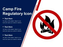 Camp Fire Regulatory Icon Example Of Ppt