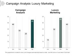 Campaign Analysis Luxury Marketing Advertising Businesses Demographic Reporting Cpb