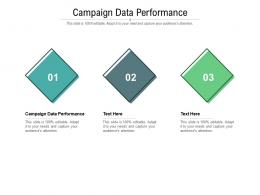 Campaign Data Performance Ppt Powerpoint Presentation Outline Designs Cpb