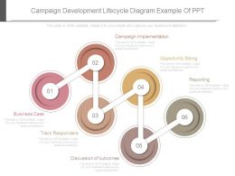 Campaign Development Lifecycle Diagram Example Of Ppt