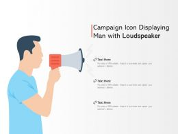 Campaign Icon Displaying Man With Loudspeaker
