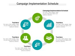 Campaign Implementation Schedule Ppt Powerpoint Presentation Outline Guidelines Cpb