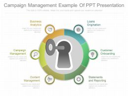 Campaign Management Example Of Ppt Presentation