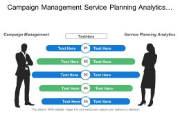 Campaign Management Service Planning Analytics Sales Analytics Field Sales