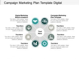 Campaign Marketing Plan Template Digital Marketing Metrics Analytics Cpb