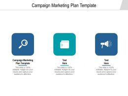 Campaign Marketing Plan Template Ppt Powerpoint Presentation Show Deck Cpb