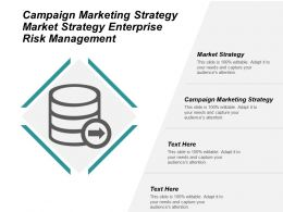 Campaign Marketing Strategy Market Strategy Enterprise Risk Management Cpb