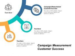 Campaign Measurement Customer Success Ppt Powerpoint Presentation File Show Cpb