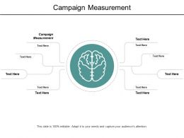 Campaign Measurement Ppt Powerpoint Presentation Outline File Formats Cpb