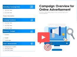 Campaign Overview For Online Advertisement