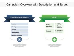Campaign Overview With Description And Target