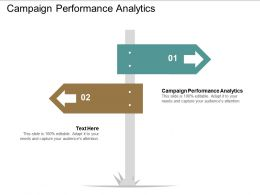 Campaign Performance Analytics Ppt Powerpoint Presentation Gallery Infographic Template Cpb