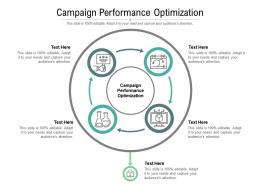 Campaign Performance Optimization Ppt Powerpoint Presentation Ideas Design Inspiration Cpb