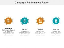 Campaign Performance Report Ppt Powerpoint Presentation Outline Samples Cpb