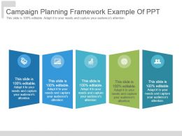 Campaign Planning Framework Example Of Ppt