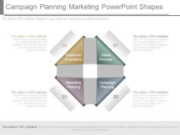 Campaign Planning Marketing Powerpoint Shapes