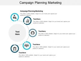 Campaign Planning Marketing Ppt Powerpoint Presentation Outline Deck Cpb