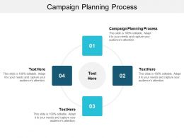 Campaign Planning Process Ppt Powerpoint Presentation Professional Graphics Pictures Cpb