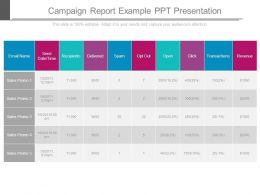 Campaign Report Example Ppt Presentation
