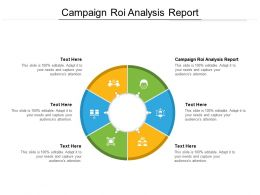 Campaign ROI Analysis Report Ppt Powerpoint Presentation Model Graphics Design Cpb