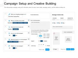 Campaign Setup And Creative Building Scraper Powerpoint Presentation Format