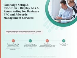 Campaign Setup And Execution Display Ads And Remarketing For Business PPC And AdWords Management Services Ppt Model